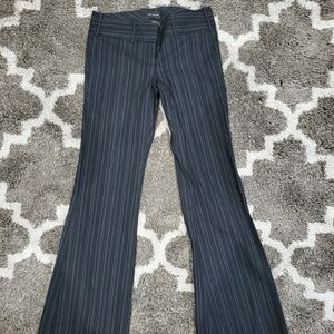The limited drew fit black/white pinstripe trouser